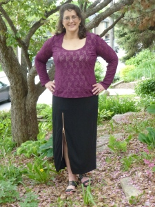 Zip skirt (with Butterick 3344 top)